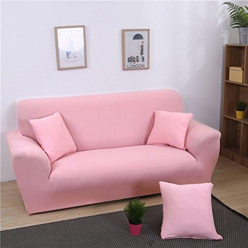 FDJKGFHGFCGDFGDG Elastische schonbezug Sofa,Universal-Sofa-Abdeckung European solid Color sofabezug Anti-rutsch-Sofa slipcovers Stoff-Rosa Loveseats -