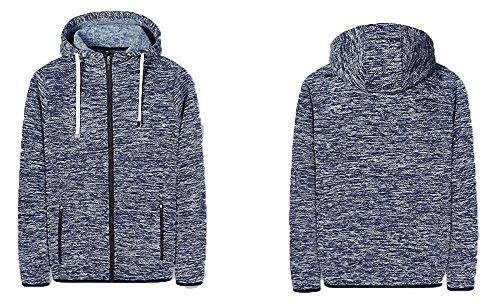 Faston Strickjacke Herren Sweatjacke Kapuzen-Jacke Cardigan Sportswear Men's Full-Zip Hoodie Sweatshirts Schwarz