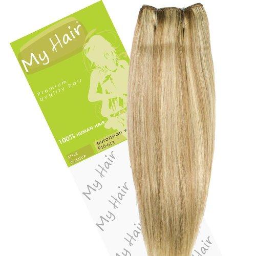 My Hair Extensions de cheveux sur trame européenne Couleur 10/613 35,6 cm