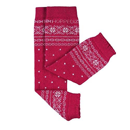 Tragen Knie-stiefel (HOPPEDIZ® Baby-Stulpen aus Kashmir/Merinowolle Norweger-Design Rot)