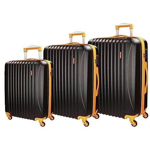 Movom Piccadilly Juegos de maletas, 77 cm, 219 litros, Negro