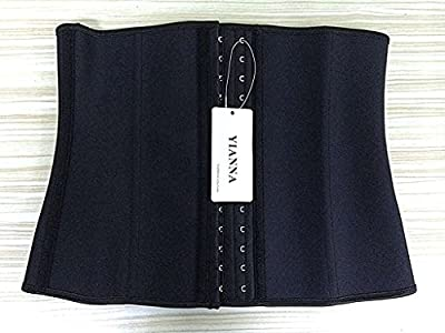 YIANNA Women's Latex Waist Trainer for Weight Loss Body Shaper Cincher Corset Sport Training Girdle