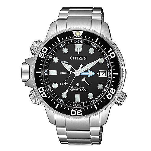 Citizen BN2031-85E Promaster Eco-Drive Taucheruhr Uhr 20 bar Analog Datum Silber