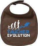 EZYshirt Taucher Evolution Baby Lätzchen Halstuch