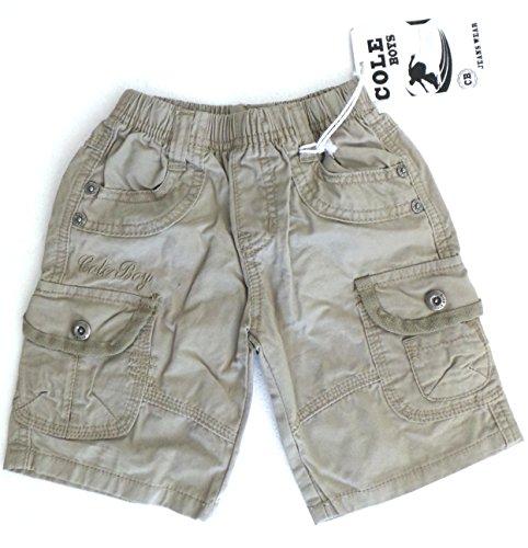 Preisvergleich Produktbild réf450–Caprihose Kinder Jungen–Shorts Bermuda Rankgitter aus Jean beige–1Jahr