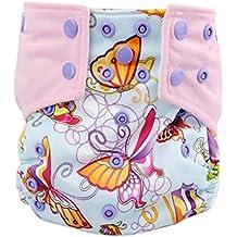 Koly Bebés Colchón cambiador Lavable Pañales de tela ajustable Niño de pañales (G)