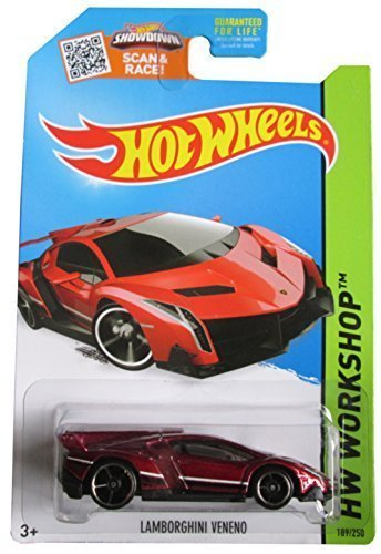 Hot Wheels, 2015 HW Workshop, Lamborghini Veneno [Maroon] Die-Cast Vehicle #189/250 by Hot Wheels