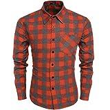 Best Usa camisas - Coofandy Hombre Camisa Casual a Cuadros Manga Larga Review