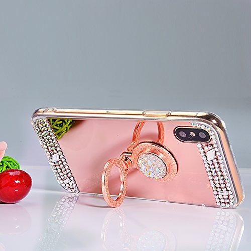 Vandot Exclusif Design Coque Étui pour iPhone X / iPhone 10 Détachable Air Plastique Dure de PC Retour Bumper Case Cover pour iPhone X 5.8 Pouces Ultra Slim Thin 0,9 mm Matte Building Pratiques de Pro Miroir-Magenta