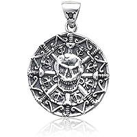 Bling Jewelry Pirati Caraibi stile azteco medaglione pendente del cranio