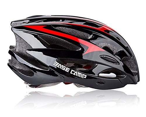 Fahrradhelm, Shinmax Specialized Bike Helm Verstellbarer Sport Radsport Helm Fahrrad Fahrradhelme für Road & Mountain Biking, Motorrad für Erwachsene Männer & Frauen, Jugend - Rennen, Sicherheitsschutz (Schwarz Rot) (Fahrrad Specialized Mountain Bike)