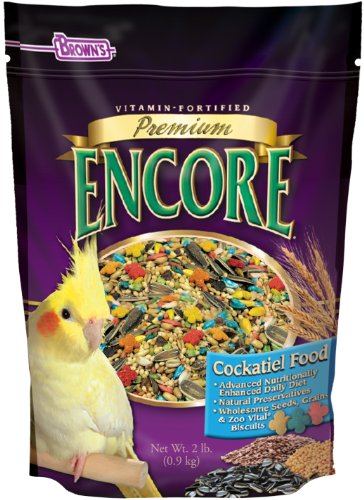 F.M. Brown's Encore Premium Cockatiel Bird Food, 2-Pound by F.M. Brown's (M Food F Brown Bird)