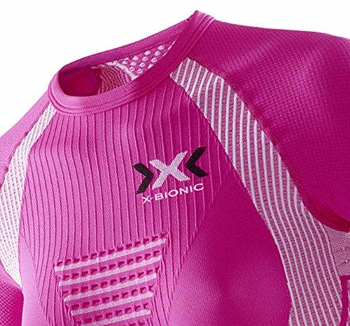 X-Bionic, Maglia tecnica da running a maniche corte Donna Rosa/Bianco