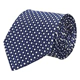 #6: Wamson Blue Premium Dotted Microfibre formal and party Tie For Men's