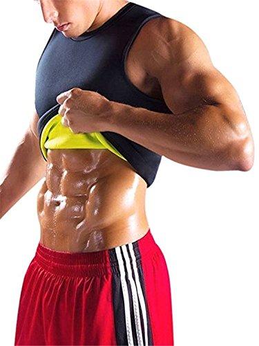 YeeHoo Faja Reductora Chaleco modelador Corporal Hombre Neopreno Camiseta Reductora Compresion de para la pérdida de Peso, musculación,Cardio,Sauna Traje para Sudar S-5XL
