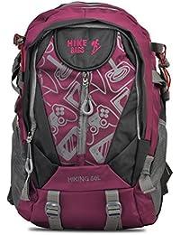 HIKE Women& Men Outdoor Travel Backpack 40-50 Litre Red Hiking Bag