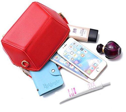 Neu Persönlichkeit Mini Muschel Geometrische Tasche Mädchen Holding Tasche Messenger Schultertasche Handy Geldbörse Red