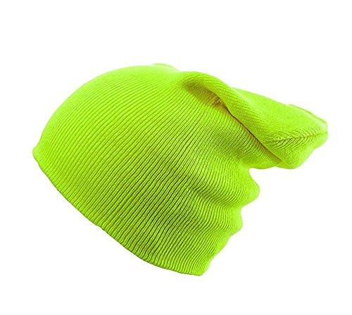 Beanie Mütze Damen Herren Bad Hair Day Commes des 1994 HAT HATS, Morefazltd (TM) (neongrün) (Dots Sock Skull)