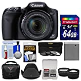 Best Selling Canon PowerShot SX530 HS Wi-Fi Digital Camera with 64GB Card + Case + Battery + 3 Filters + Tele/Wide Lens Kit be sure to Order Now
