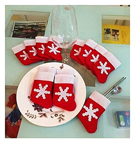 Zantec Décorations de sapin de Noël en Mini Chaussette de Noël 12 pcs Table Coque