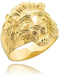 Little Treasures - 9 ct Men's Solid Gold Lion Head Ring