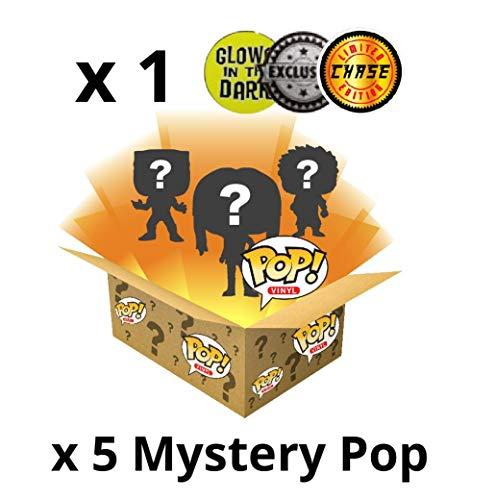 Close Up Funko POP! Vinyl Figuren - Mystery Box - Überraschungsbox mit 5 Funko POP Sammelfiguren + 1 Exklusive Limited Chase Figur - NEU & OVP