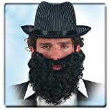 Rauschebart Vollbart Bart schwarz Faschingsbart Zubehör
