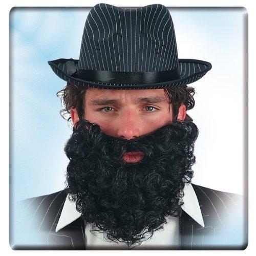 Rauschebart Vollbart Bart schwarz Faschingsbart ()