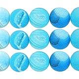 TheTasteJewelry 12mm Rund light Blau Achat Roh Druse Matte Perlen DIY Schmuckherstellung Zubehör Halskette Armband Basteln Selbermachen - 2769 AMDE