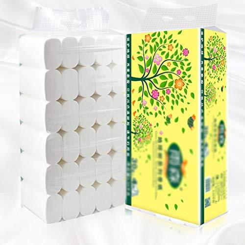 Zhijin 4-lagiges Toilettenpapier, Toilettenpapier der 7. Generation, hochwertiges Lebensmittel-Toilettenpapier, 30 große Rollen