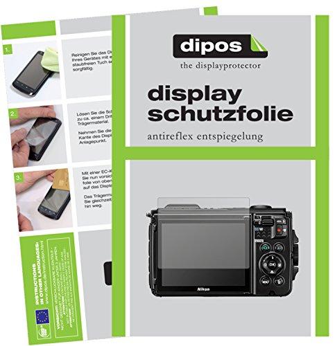 dipos I 6X Schutzfolie matt passend für Nikon Coolpix W300 Folie Displayschutzfolie