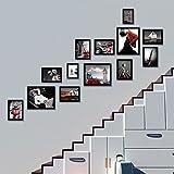 Foto an der Wand Massivholz Treppenhaus Flur Wandrahmen Kombination Korridor Wanddekoration (Farbe : Weiß, Muster : A)