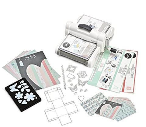 Sizzix 661546 UK Version FT MLH Big Shot Plus Starter Kit, Stahl / Plastik / Gummi, mehrfarbig, 47 x 38 x 24 cm - Big Shot Taglio Pad