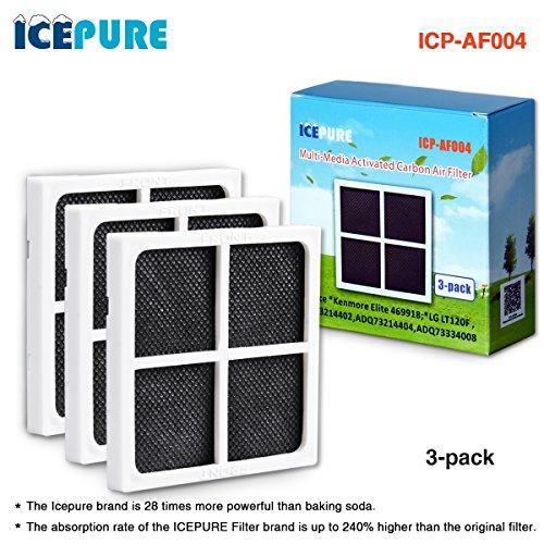 icepure AF004Air Filter kompatibel mit LG lt120F Kenmore Elite 469918Kühlschrank adq73214402, adq73214404 3PACK - Filter Air Lg Kühlschrank