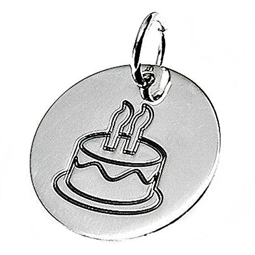 Aufnahmen Kuchen (Disco 925m Silber Anhänger 18mm Gesetz. rostige Kuchen [AB2626GR] - kundengerecht - AUFNAHME IN PREIS ENTHALTEN)