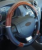 'Ausgezeichnete Qualität' Universal Lenkradbezug in Holzoptik für Auto Anti rutsche Durchmesser 37–39cm + 1Wandtattoo PC