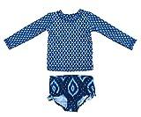 Baby Mädchen Jungen Langarm UPF 50 + Bademode Rash Guard Schwimmen Kostüm