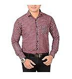 Aedi Men's Casual shirts (MRN26_Maroon_M...