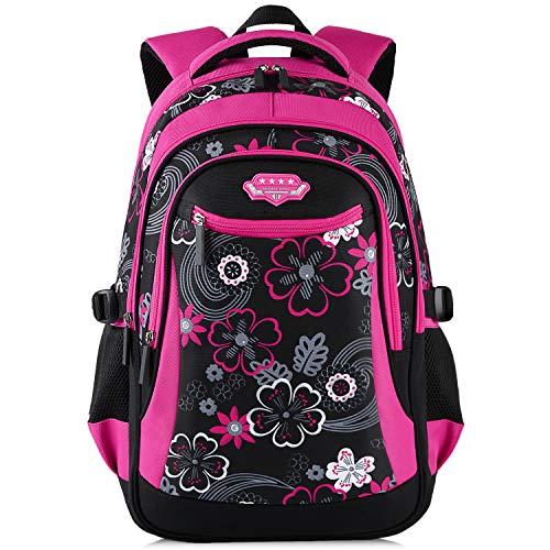 Zaino scuola elementare,fanspack zaino bambina scuola elementare borsa zainetto scolastici zaini per bambini ragazza (rosso)
