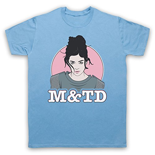 Inspiriert durch Marina & The Diamonds M&TD Unofficial Herren T-Shirt Hellblau