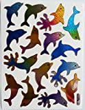 b2see Sticker Bogen Aufkleber Tiere Fisch Delfine Aufkleber Sticker für Kinder Zum aufkleben dekorieren 2 Stück je 14 x 9 cm
