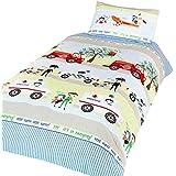 Emergency Vehicles - Juego de fundas nórdico/edredón cama individual para niños. (Cama de 90/Multicolor)