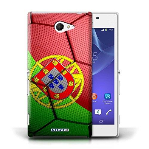 Kobalt® Imprimé Etui / Coque pour Sony Xperia M2 / Espagne/Espagnol conception / Série Nations de Football Portugal
