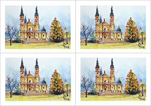 4 Weihnachtskarten mit Kuvert - Weihnachten in Fulda