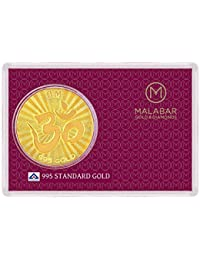 Malabar Gold and Diamonds 0.7 gm, 24k Yellow Gold Om Impression Precious Coin