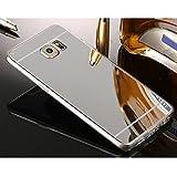 Sycode Galaxy S6 Edge Spiegel Hülle,Galaxy S6 Edge Handyhülle,Luxuriös Ultra Slim Mirror Case TPU Silikon Hülle Dünne Schutzhülle Back Cover Verspiegelt Make Up Spiegel Mirror Kratzfeste Weich Handy Tasche Bumper Phone Etui für Samsung Galaxy S6 Edge-Silber