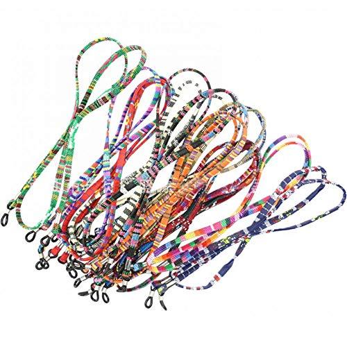 LIUYAWEI Mode Retro Brillen Sonnenbrillen Baumwolle Hals String Schnur Retainer Strap Eyewear Lanyard Halter mit Gute Silikon Schleife