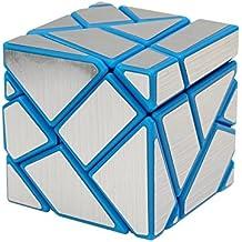 Wings of Wind - DIY Nueva etiqueta Velocidad cubo mágico, 3x3x3 Ghost Puzzle Cube (Azul-Plata)