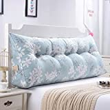 Yxsd Sofa Bett große dreieckige Nachttisch Kissen Keil Kissen Schlafzimmer Bett Rückenlehne Kissen Lesekissen Büro Lendenkissen mit abnehmbarem Bezug, 8 Farben, 8 Größen optional