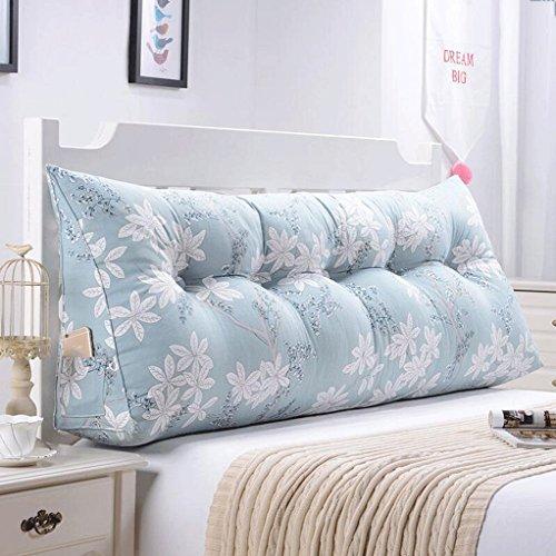 fzw Sofa Bett Große Gefüllte Dreieckige Keil Kissen Schlafzimmer Bett Rückenlehne Kissen Lesekissen Büro Lendenkissen Mit Abnehmbarem Deckel ( Farbe : G , größe : 90cm )